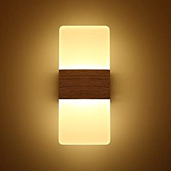 Topmo Modern Acrylic 12w LED Wall Sconces Aluminum Lights Decorative ...