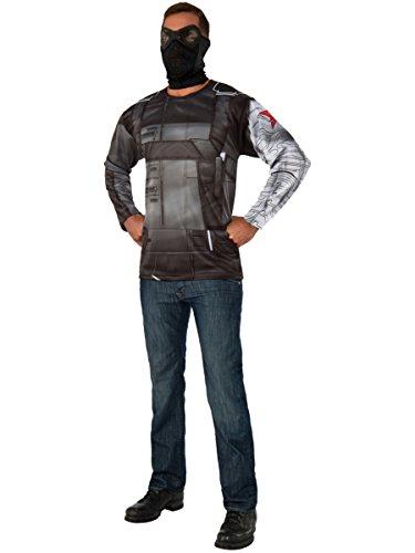 Rubie's Costume Co Marvel Men's Captain America: Civil War Winter Soldier Long Sleeve Costume -