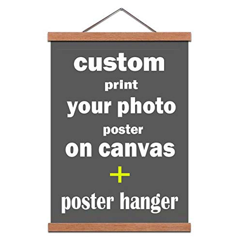 diynshop Poster Frame- Magnetic Poster Hanger Frame-Photo to Canvas-Your Image Turn Into Canvas Art Print-Custom Canvas Prints-16(40cm)-Include Photo to Canvas Print-