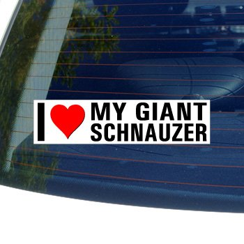 I Love Heart My GIANT SCHNAUZER - Dog Breed - Window Bumper Sticker (I Love My Giant Schnauzer)