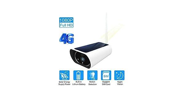 Amazon.com: Sim Card 3G 4G Energía Solar WiFi Cámara de la ...