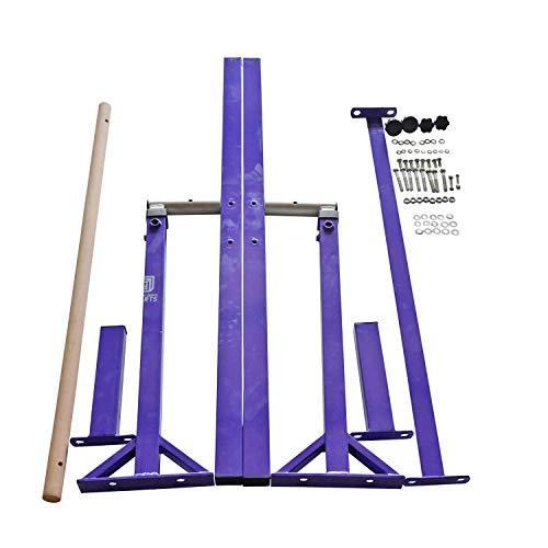 Modern-Depo Adjustable Height Kip Bar Pro | Junior Training Gymnastics Horizontal Bar Beech Wood - Purple by Modern-Depo (Image #5)