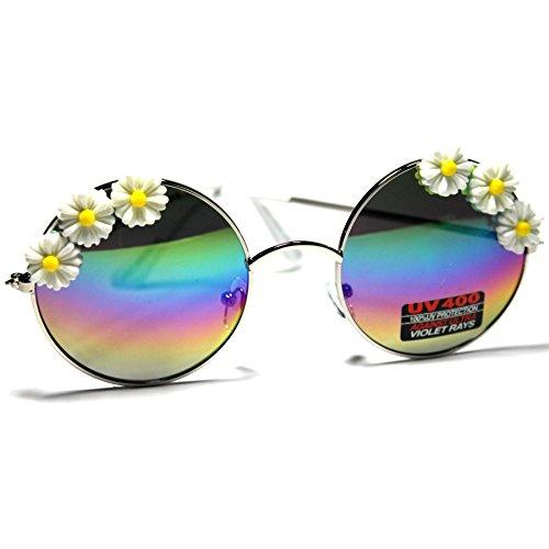 #SN24-S3 SONIC Eyewear Floral Flowers Round Aviator Women's - Sonic Eyewear