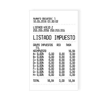 Balanza Comercial Homologada con Impresora Baxtran CT 100P (6/15Kgx2/5g) (32x24cm): Amazon.es: Bricolaje y herramientas