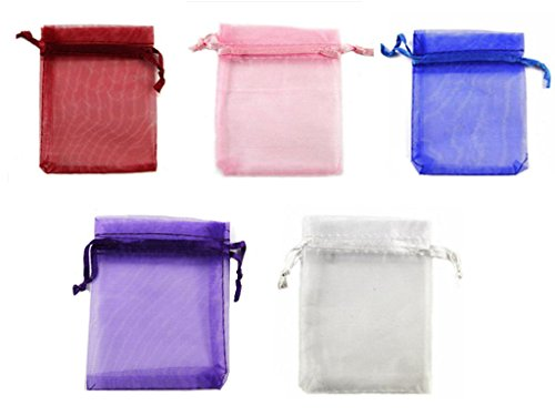 Organza Wedding Party Favor Bags- Package of 100 (3