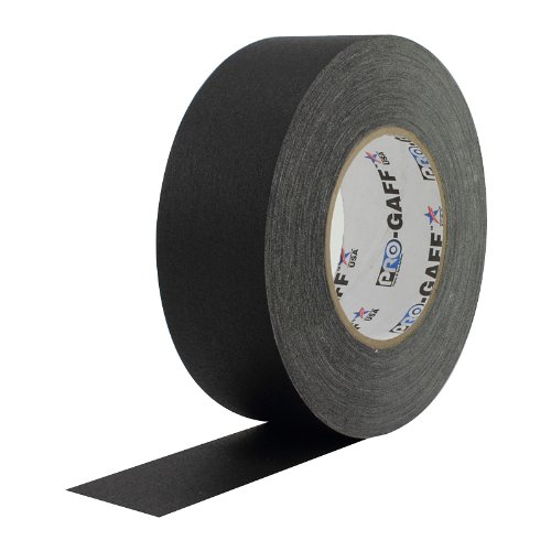 ProTapes Pro Gaff Premium Matte Cloth Gaffer's Tape With Rubber Adhesive, 11 mils Thick, 55 yds Length, 2'' Width, Black (Pack of 24) by Pro Tapes