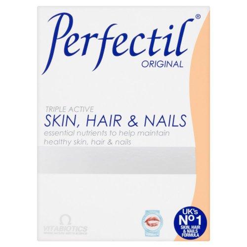 Vitabiotics, Perfectil Triple actifs, éléments nutritifs essentiels pour la peau, cheveux et ongles, 30 Count
