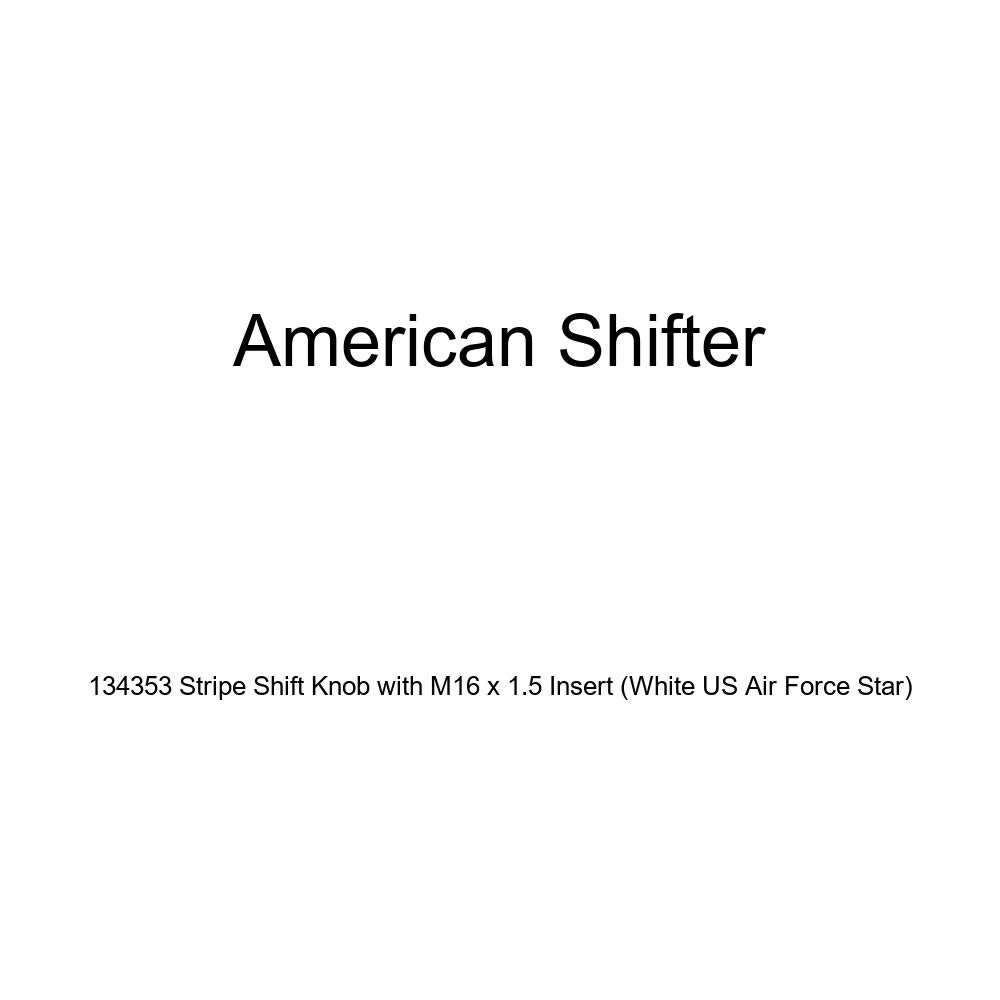 American Shifter 134353 Stripe Shift Knob with M16 x 1.5 Insert White US Air Force Star