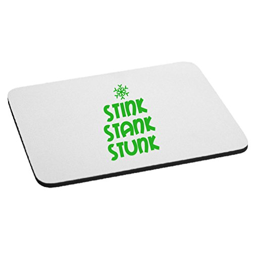 Funny Grinch Stink Stank Stunk Quote Mouse Pad - Lime Green