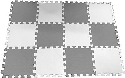 20Pc 31.5 x 31.5 x 1cm 10mm Thicknes HIGH Quality Grey White Kids Playmat Floor Matting Foam Garden Fitness Nursery Mat