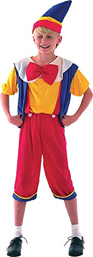 Children's Boys Book Week Day Fancy Dress Outfit Pinocchio Budget Costume (Pinocchio Womens Costume)