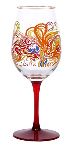 C.R. Gibson 16-Ounce Acrylic Wine Glasses, By Lolita, Set of 2, BPA Free, Measures 3.5