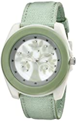 Sprout Women's ST2019MPLG  Light Green Organic Cotton Strap Watch