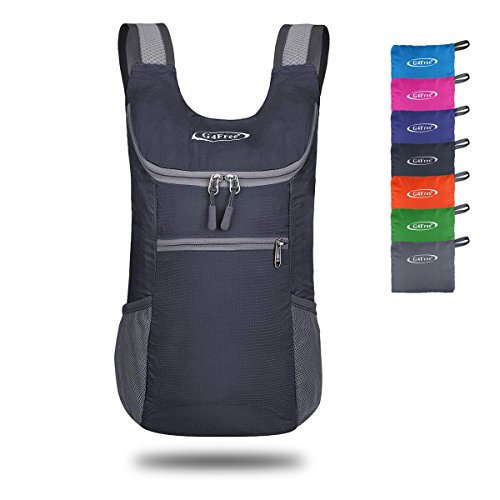 G4Free Small Packable Shoulder Backpack Lightweight Hiking Daypacks Small Casual Foldable Camping Outdoor Bag 11L(Gray) ()