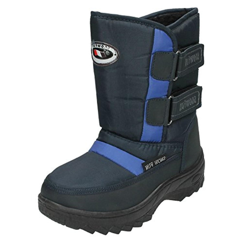 Spot On 2 Velcro Strap Snow Boot (Navy, Size 34 EU)