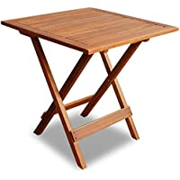 Festnight Foding Wooden Square Coffee Table Side End Ottoman Sofa Table Living Room Indoor Outdoor Furniture Decor, Wooden