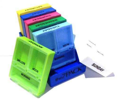 Le Pack 7 - 7 Jour 3 Compartiment Pill Box médecine Organisateur