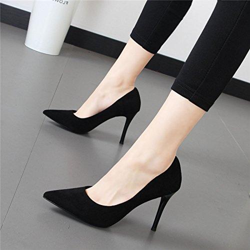 Xue Qiqi Mode Damenschuhe satin Spitze Einfachheit mit der Waren Gitter Schuhe flache Mund einzelne Schuhe