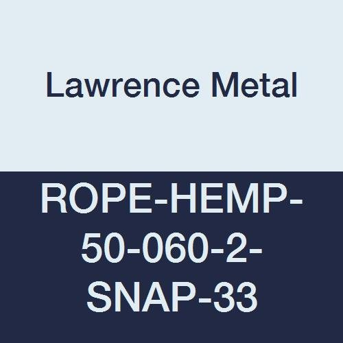Lawrence metal ROPE-HEMP-50-060-2-SNAP-33 Rope Poly Hemp Natural 6 0 72 Length 2.5 Height 1.5 Wide 72 Length Tensator Group 1.5 Wide 2.5 Height 2 Black Snap Ends