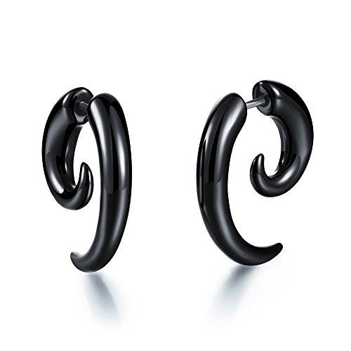 Horn Clip Earrings - 8