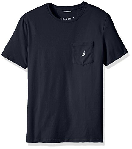 Nautica Men's Big and Tall Solid Pocket T-Shirt, Navy, 3X-Large