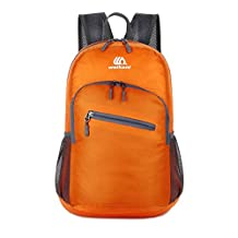 Mountaintop 18L Backpack for Outdoor Camping Lightweight Waterproof Durable Travel Hiking Daypack(Orange)