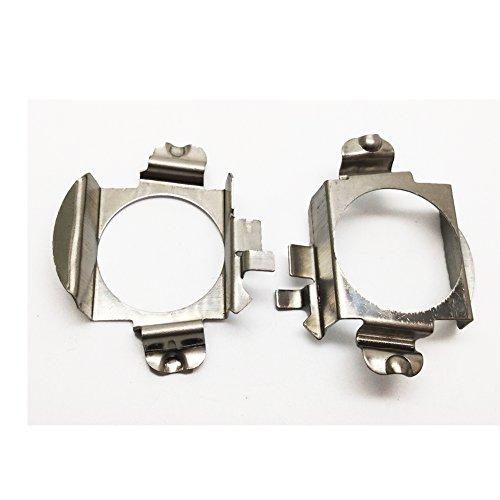 2 piezas de metal H7 xenón base de la lámpara del adaptador del adaptador del kit de conversión del alojamiento del adaptador del retén para BMW /VW ...