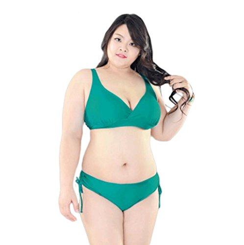 Bikini traje de baño Swimsuit Ladies más grasa para aumentar el estilo de traje de baño femenino C