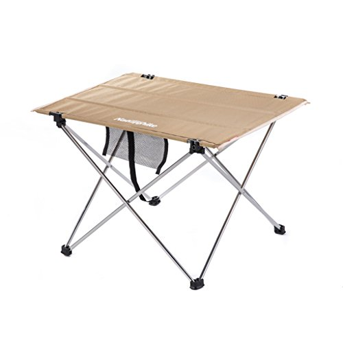 GHM Outdoor Camping Aluminum Folding Picnic Table Folding Portable (Color : Brass) by GHM