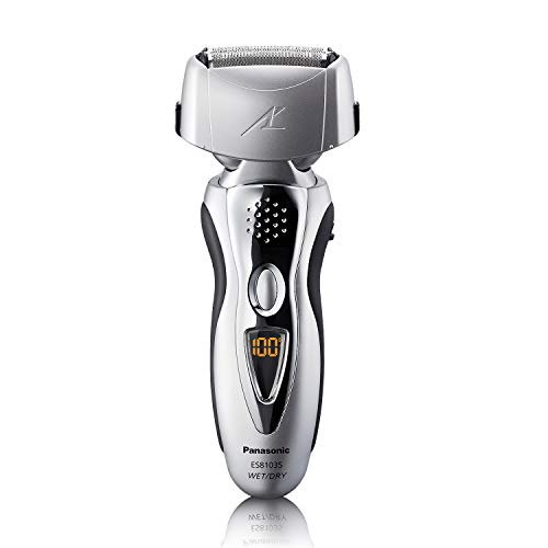 Panasonic Electric Shaver and Trimmer for Men ES8103S Arc3, Wet/Dry with 3 Nanotech Blades and Flexible Pivoting - Head Pivoting Razor