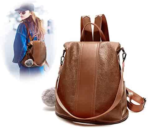 03c034a86981 FIGROL Women Backpack Purse Casual Shoulder Bag Ladies PU Leather ...