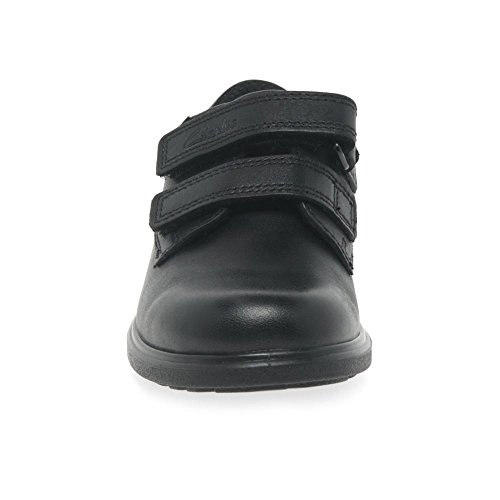 Clarks Remi Pace Inf Boys School Shoes 7 G Black Leather