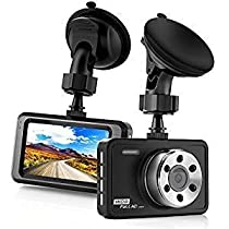 Car Dash Cam full with HD 1080P, 3 Inch LCD 170 Degree Wide Angle Dashboard Camera Recorder for Cars with with G-Sensor, WDR, Loop Recording(Black)