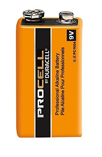 Pack of 10 Duracell PC1604 Procell 9 Volt Alkaline Battery with Cap Protectors - Bulk Pack by Duracell
