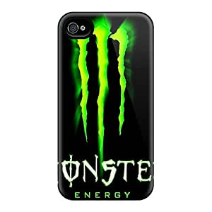 High Quality Shock Absorbing Cases For Iphone 4/4s-monster