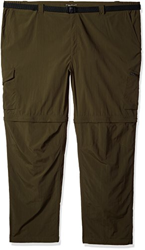 Columbia Men's Big-Tall Silver Ridge Convertible Pants, 48'' x 34'', Peat Moss by Columbia
