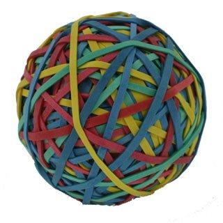 Rubber Band Ball 50mm sortiert ALCO Gummib/änder Ball 3 Stk Inhalt 190gr