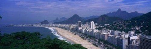 Copacabana Beach Rio De Janeiro Brazil Poster Print (36 x 12)