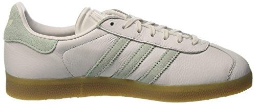 adidas Gazelle, Pompes à Plateforme Plate Femme Blanc (Vintage White-St/Vapour Green/Gum4)