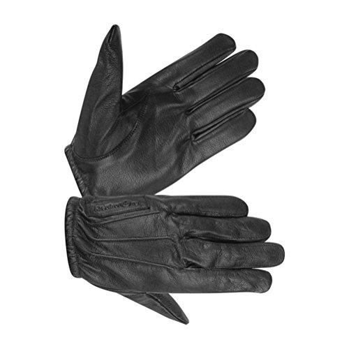 Men's Black Leather Kevlar