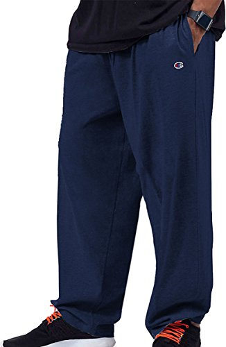 - Champion Big & Tall Men's Jersey Pants with Elastic Bottom_Navy_XXX-Large