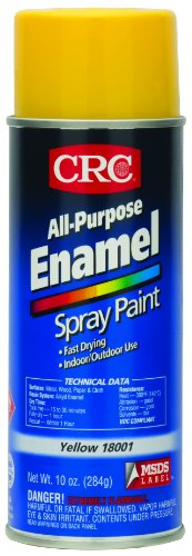 Yellow Enamel Spray Paint (CRC All Purpose Enamel Spray Paint, 10 oz Aerosol Can, Yellow)