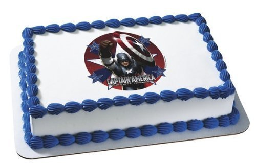 UPC 689752975202, Captain America the First Avengers Edible Image Birthday Cake Topper