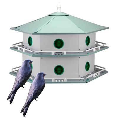 - BestNest Heath 12-Room Deluxe Purple Martin House with Decoys