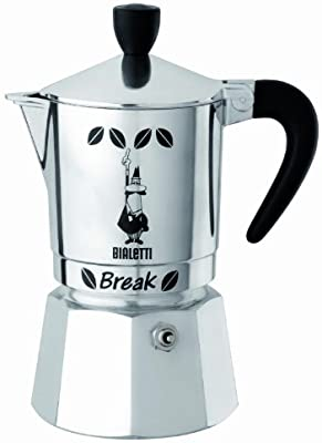 Bialetti Break - Cafetera italiana (3 tazas), color negro: Amazon ...