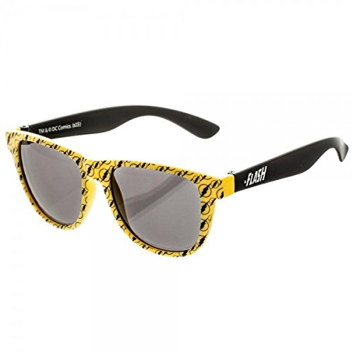 The Flash Logo Pattern Sunglasses w/ All Over Print Pouch - Sunglasses Flash