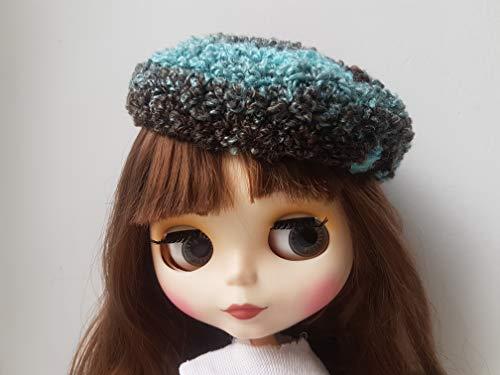 Blythe Beret, Beret hat for Blythe, Neoblythe hat, hand-knitted of warm yarn