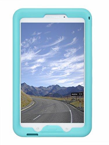 Bobj Rugged Case for Samsung Galaxy Tab 4 8-inch Tablet SM-T330, SM-T331, SM-T335, SM-T337, SM-T337A other SM-T33 (Not for Tab A 8) - BobjGear Sound Amplification - Kid Friendly (Terrific Turquoise)