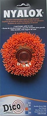 """Dico Products 541-721-358 3"""" Diameter Power Brush, Orange"""