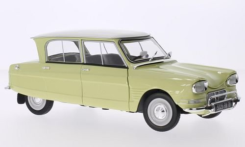 Citroen Ami 6, giallo bianca, 1964, Model Car, Ready-made, Norev 1 18 by Citroen